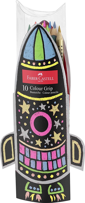 Faber-Castell Colour Grip Pencils Rocket - Set of 10