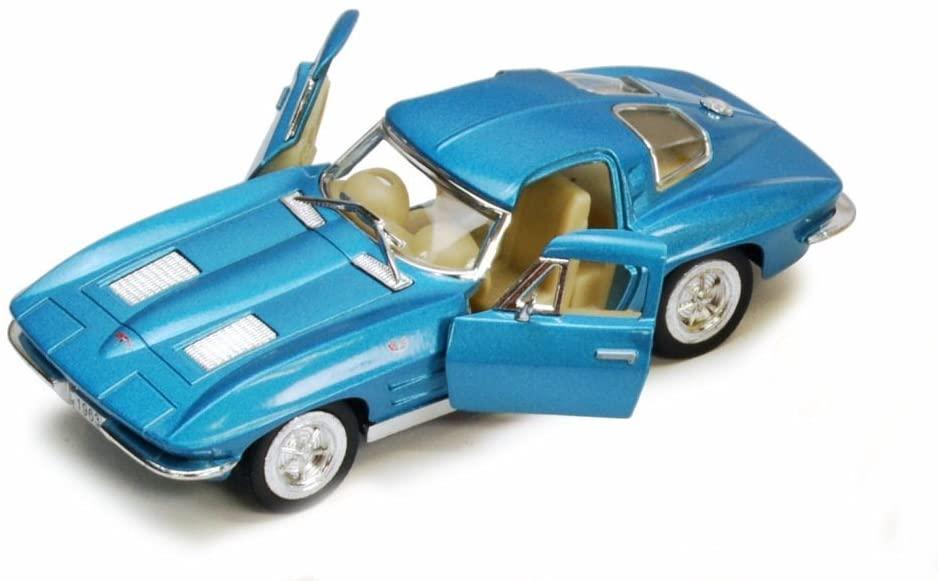 KiNSMART 1963 Chevy Corvette Stingray, Blue 5358D - 1/36 Scale Diecast Model Toy Car, but NO Box
