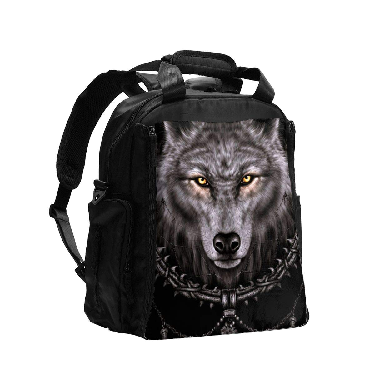 Native Wolf Spirit Diaper Bag Backpack Travel Backpack Maternity Baby Changing Bags