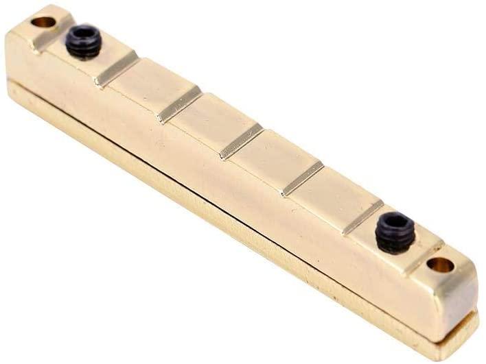 Fafeims Guitar Bridge Nuts,7 String Multiscale Golden Guitar Bridge Nut Electric Guitars Replacement Accessory Brass.