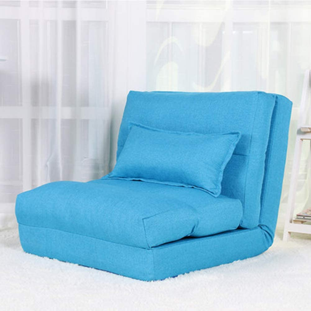 HOMRanger Foldable Floor Chair, Single Breathable Modern Lazy Recliner Bed Room Balcony Bay Window Chair Reading Tv Watching-a