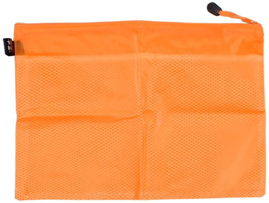 Uxcell A4 Paper 2 Compartment Strap File Pen Folder, 13-Inch Long, Orange