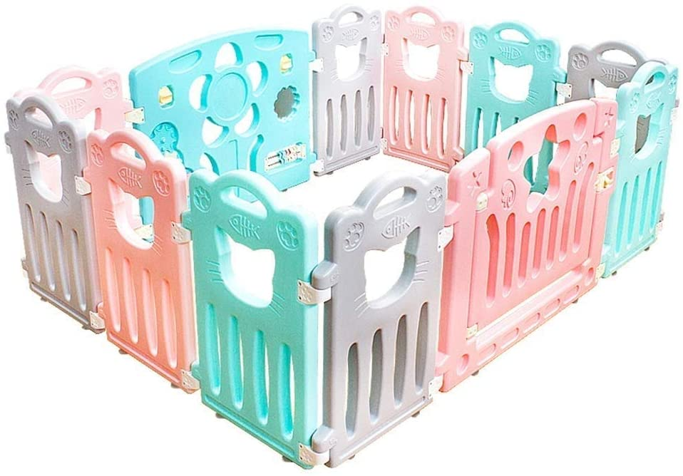 HWZQHJY Playpens for Babies Fall Prevention Safety Fence Easy Installation (Size : 12 Pieces)