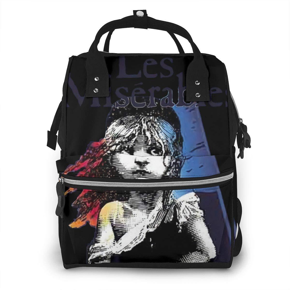 Les Miserables Durable, Large Capacity, Stylish, Adjustable Strap Length Mummy Backpack