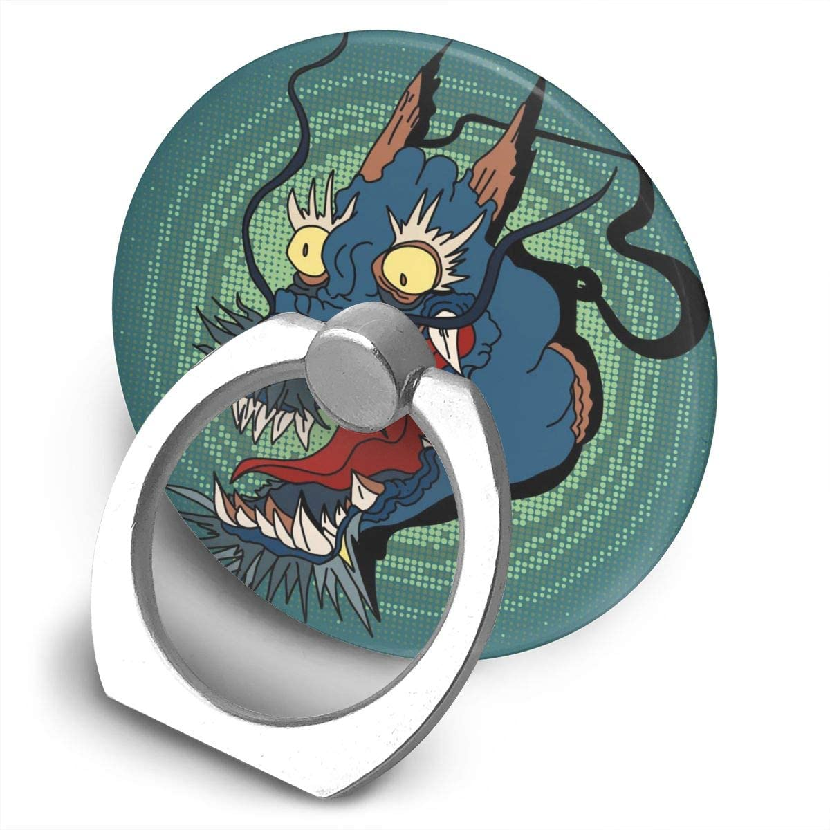 Universal Phone Ring Holder Vintage Chinese Dragon Retro Adjustable 360°Rotation Round Finger Grip Loop Cell Phone Stand for Phone X/6/6s/7/8/8/10/11 Plus Smartphone Android