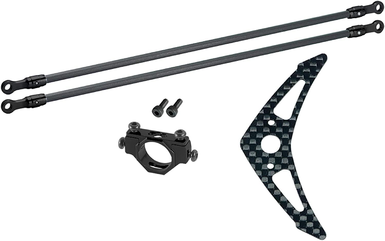 Aluminum/Carbon Fiber Tail Boom Support Set (Black) - Blade 150 S