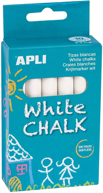 APLI Kids Box Chalk, White, Round (14576)