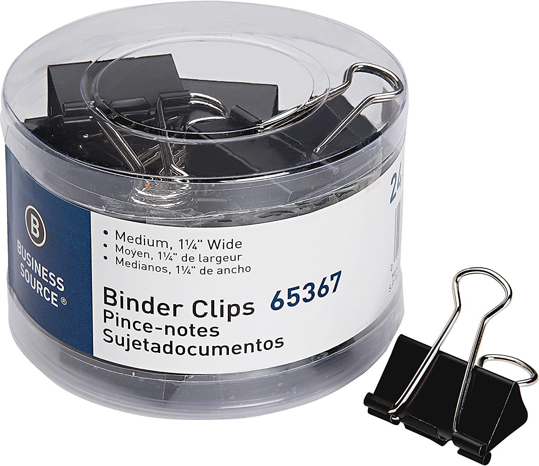 Business Source Medium 24-Count Binder Clips (65367)
