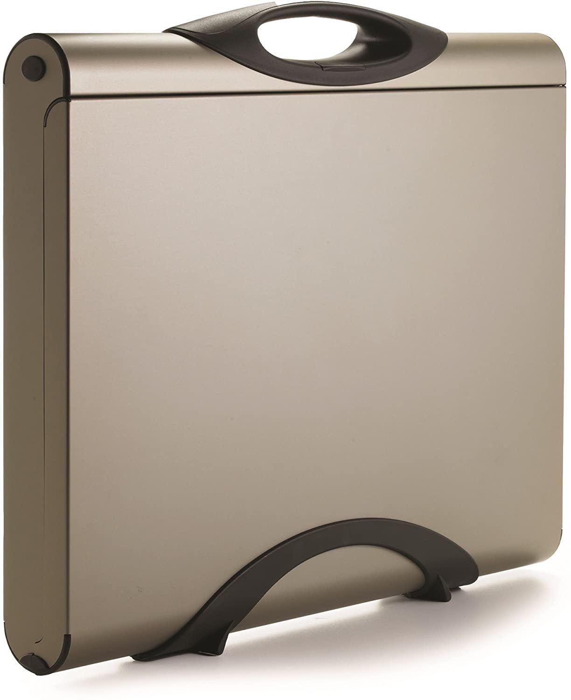 Designer Aluminum Slim Briefcase | 20.1 x 17 Executive Case by Youmans Capsule