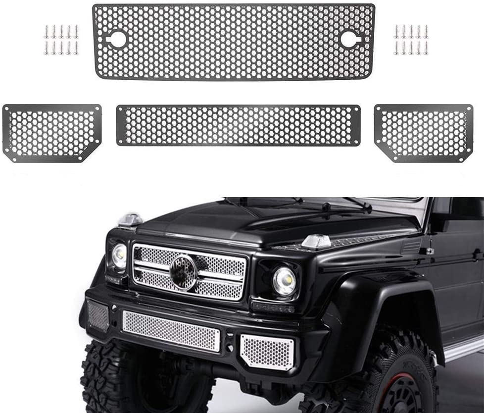 Front Metal Grille Upgrade Decoration Parts for 1:10 RC Crawler Traxxas TRX4 G500 TRX6 G63-1 Set