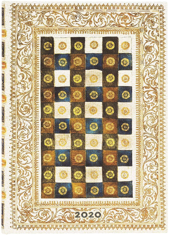 Paperblanks Agende 12 Month 2020 Aureo Vertical at 12 noon (130 × 180 mm)