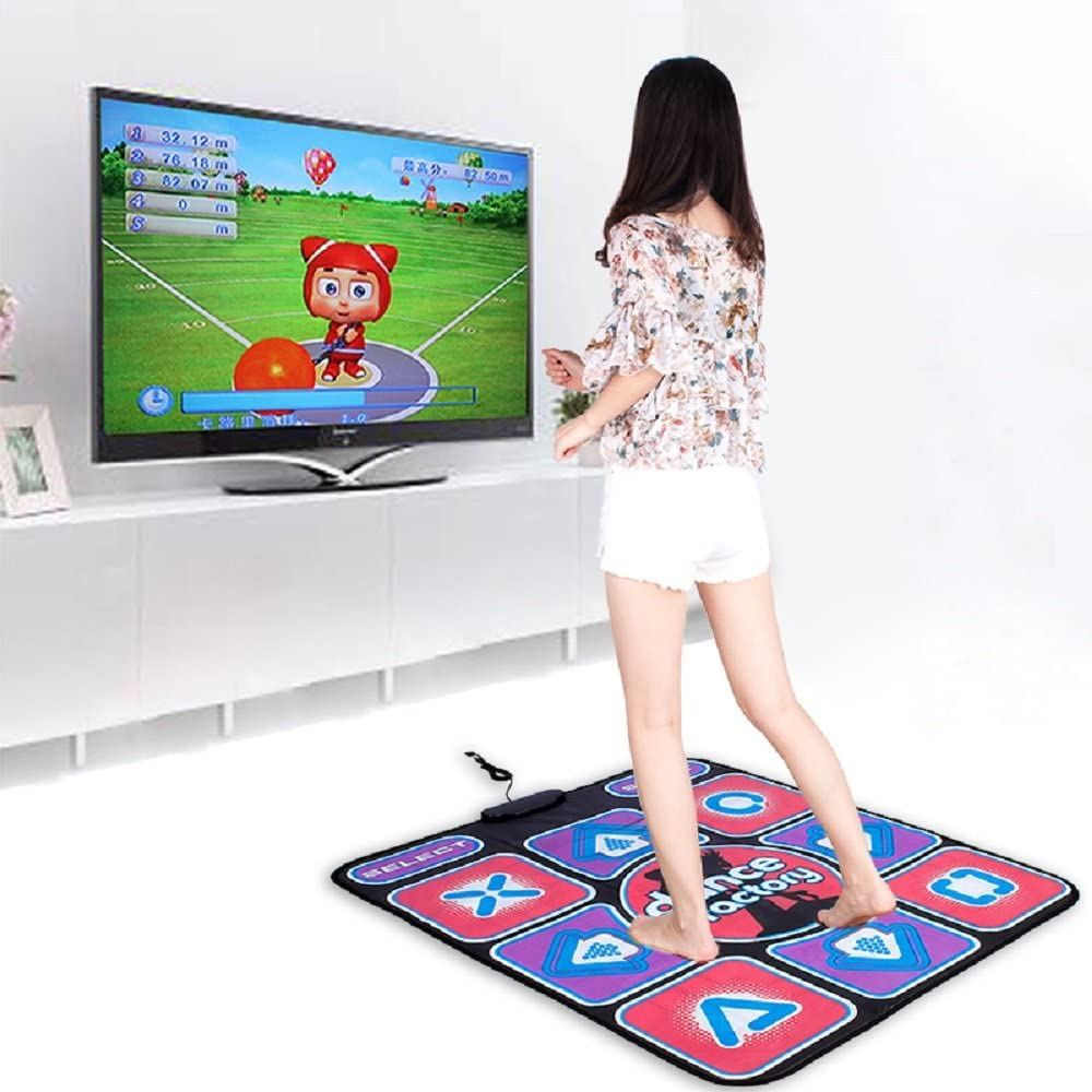 Puronic Non-Slip Dance Mats Rhythm and Beat Game Dancing Step Pads USB Lose Weight Pads Dancer Blanket with USB Entertainment for PC Laptop (Pattern 1, 8 mm Thick)