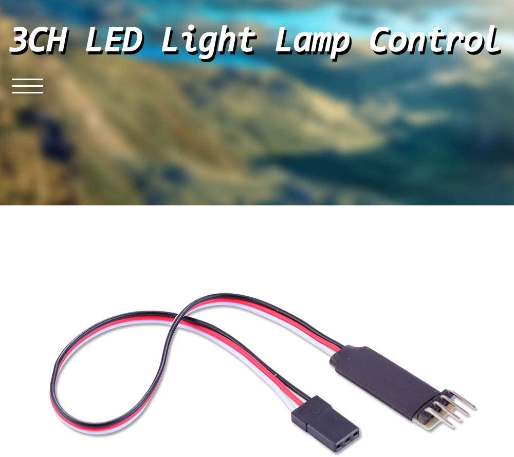 Parts & Accessories LED Light Lamp 3CH Control Switch System Turn ON/Off Flash for RC Car Model Spare Parts