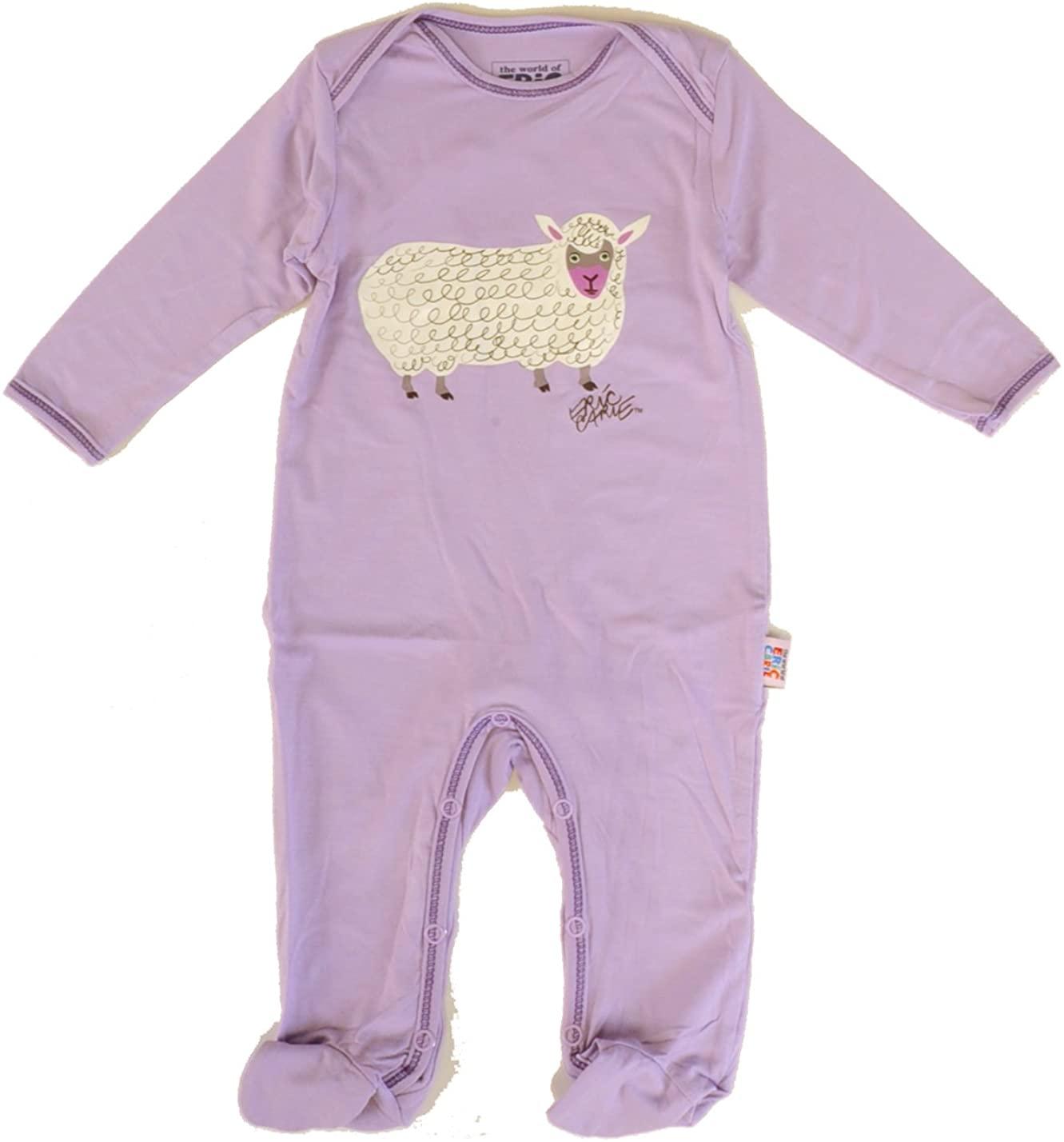 Eric Carle Purple Sheep Print Soft Bamboo Viscose Footie