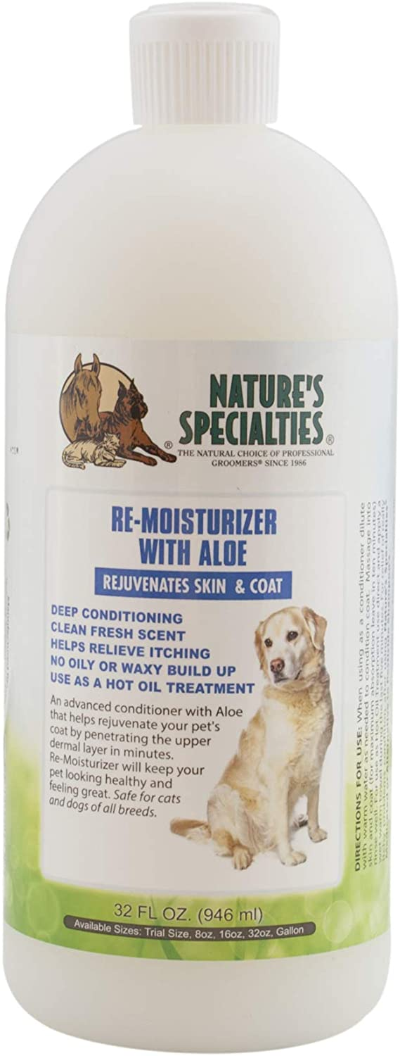 Nature's Specialties Re-moisturizer with Aloe Conditioner for Dogs Cats, Non-Toxic Biodegradable