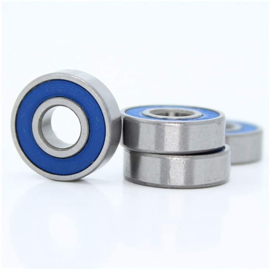 Logo Precision Deep Groove Ball Bearings 695RS Color Bearing 5x13x4 mm ABEC-3 for Hobby Electric RC Car Truck 695 RS 2RS Ball Bearings 695-2RS Blue Sealed 10PCS