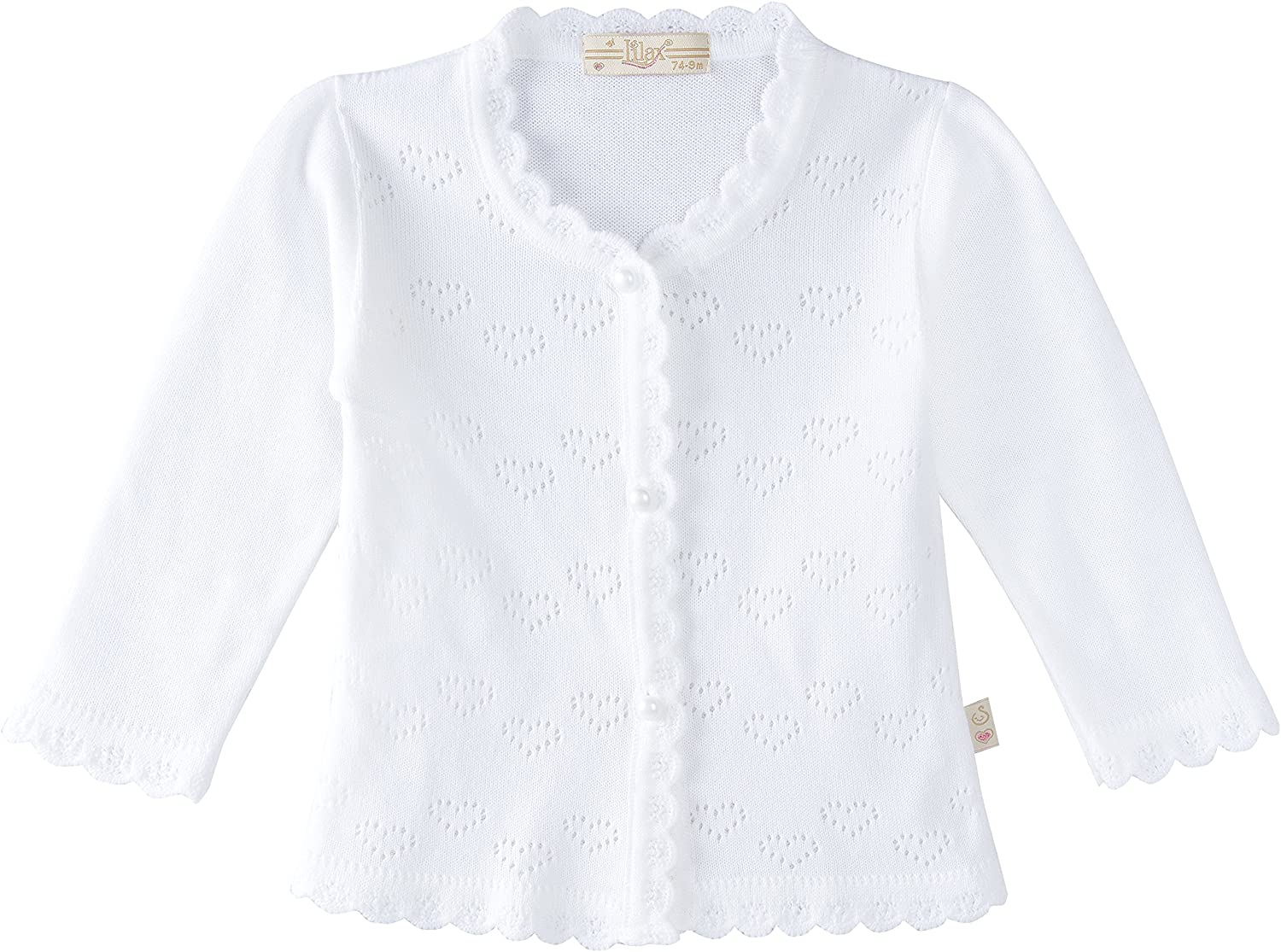 Lilax Baby Girls' Little Hearts Knit Cardigan Sweater