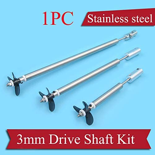 Parts & Accessories 1PC Model RC Boat Parts 3mm Drive Shaft Assembly Stainless Steel Shaft Sleeve+CW/CCW Propeller+Coupling+Gasket+Nut+Paddle Fork - (Color: 30x25cm for 3mm)