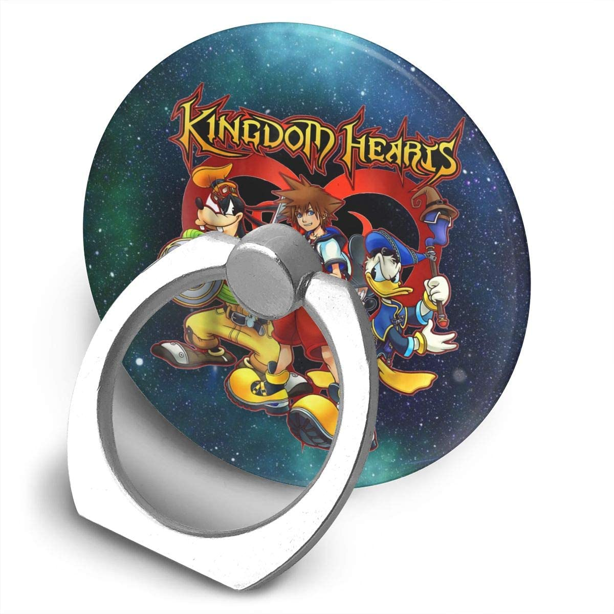 Levoncar Kingdom Hearts Team Ready Phone Stand 360 Rotating Ring Holder for Any Tablets