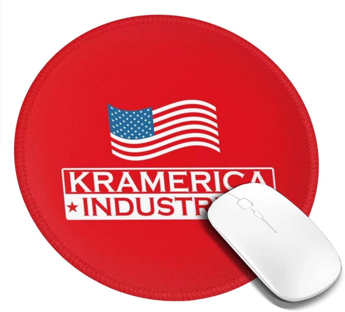 Seinfeld Kramerica Industries, Trucker Cap Customized Designs Non-Slip Rubber Base Gaming Mouse Pads for Mac,7.9x7.9 in, Pc, Computers. Ideal for Working Or Game