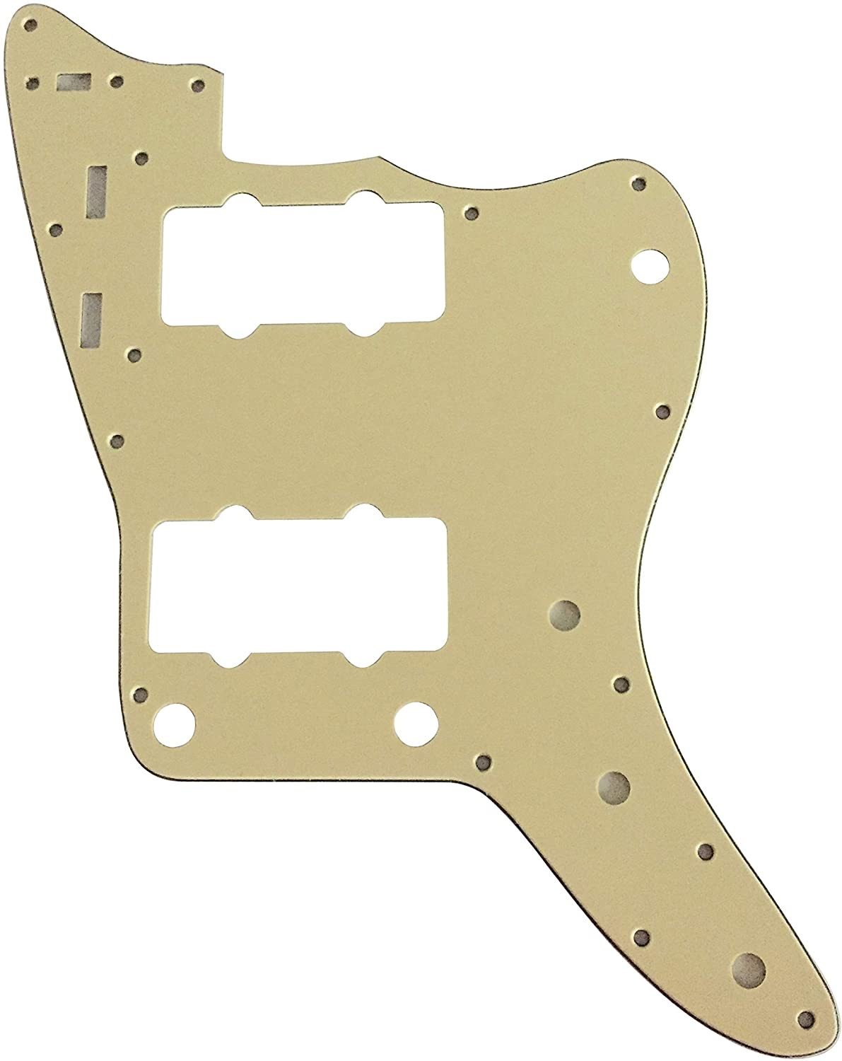 Guitar Parts For Fender US Jazzmaster Style Guitar Pickguard (3 Ply Vintage Yellow)