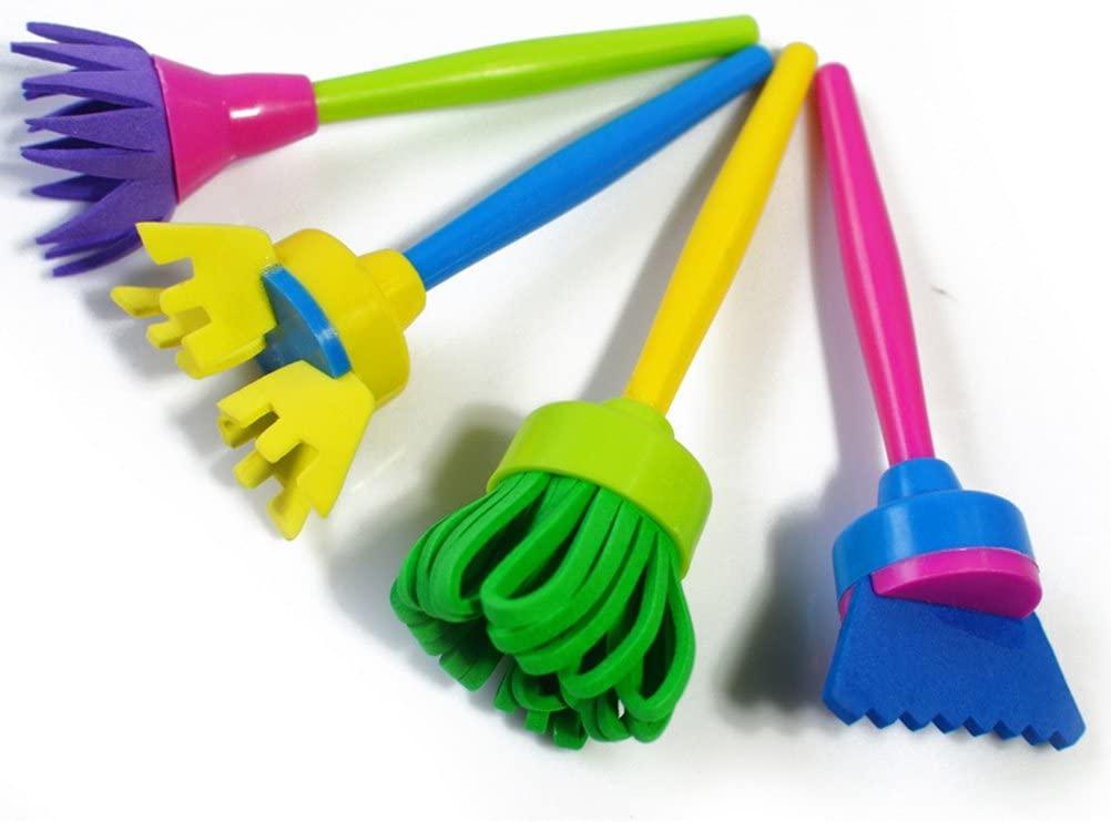 ULTNICE Children Sponge Painting Brush DIY Art Painting Tools 4pcs