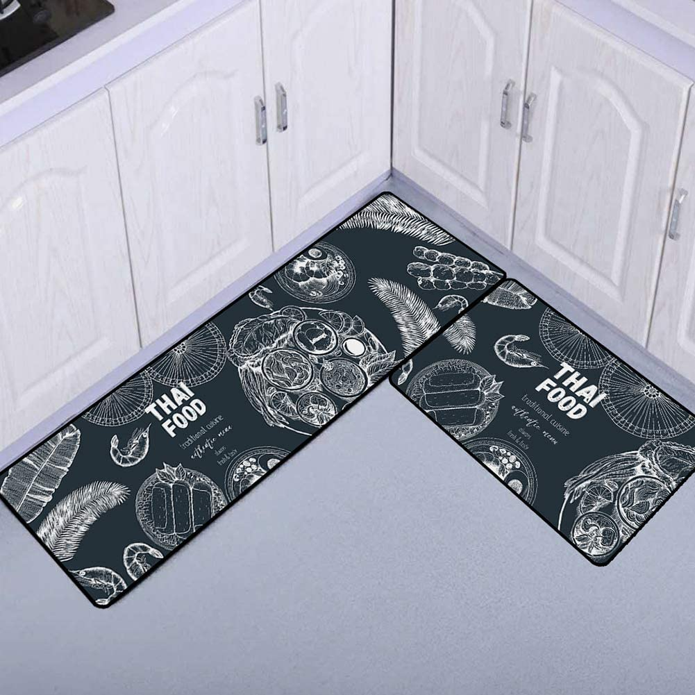 FairOnly Convenient Life Rectangle Anti-Slip Printing Floor Mat for Kitchen Bathroom Decor TF-03 40120cm