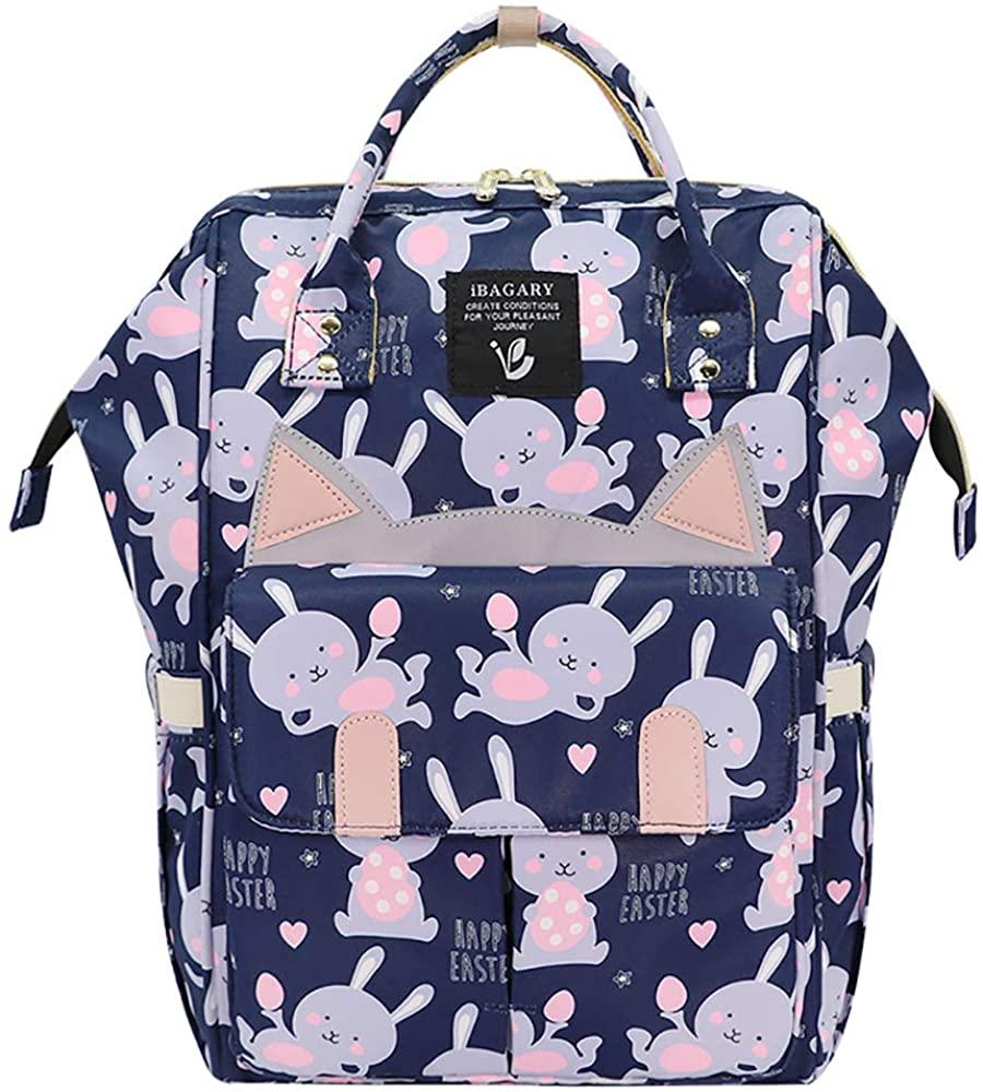 Essfeeni Baby Diaper Bag Backpack Waterproof Insulated Large Diaper Bag Backpack for Mom Dad