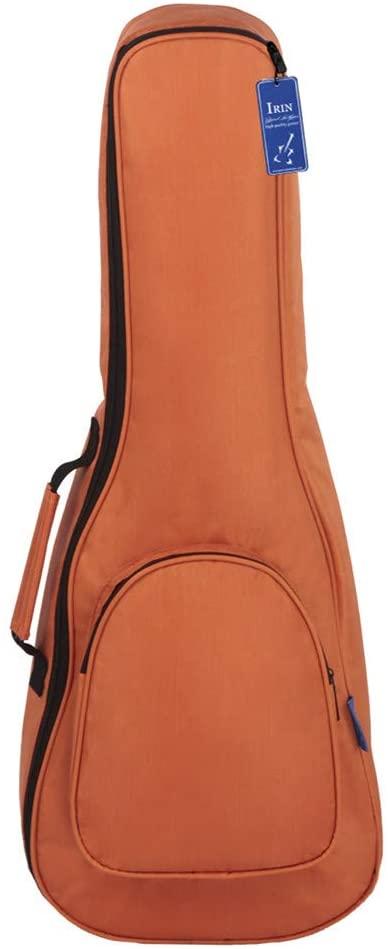 XuBa IR-IN 26 Inch Ukulele Bag Soft Case Gig Waterproof Oxford Cloth Ukelele Guitar Backpack Orange Musical instrument