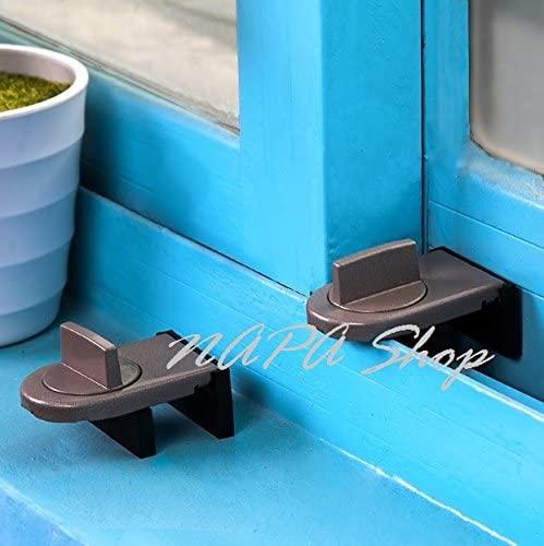 Move Window Child Safety Lock Sash Windows Sliding Door Cabinet Locks Thick Iron Material Straps Hot Sale 1104