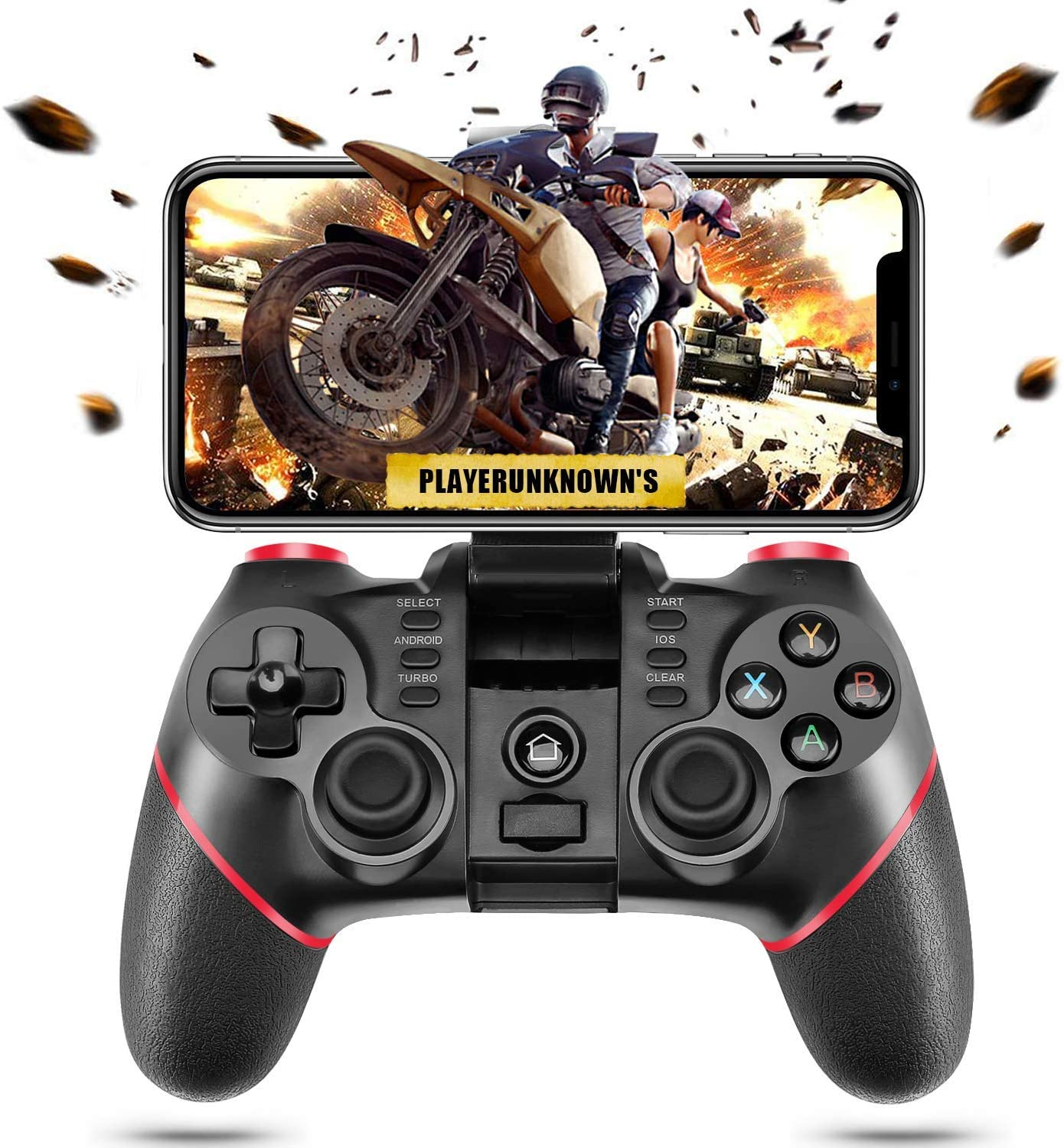 ACGEARY Wireless Bluetooth Android Game Controller Mobile Gaming Controller Gamepad Joystick Compatible for iOS/Android Phone/PC Windows/Tablet/Smart TV/TV Box/ PS3 (Renewed)