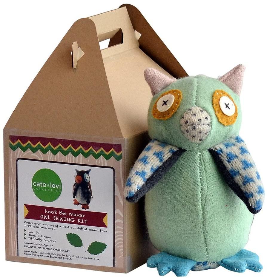 Cate & Levi - Stuffed Animal Making Kit - Unique Child Gift - Machine Washable (Owl)