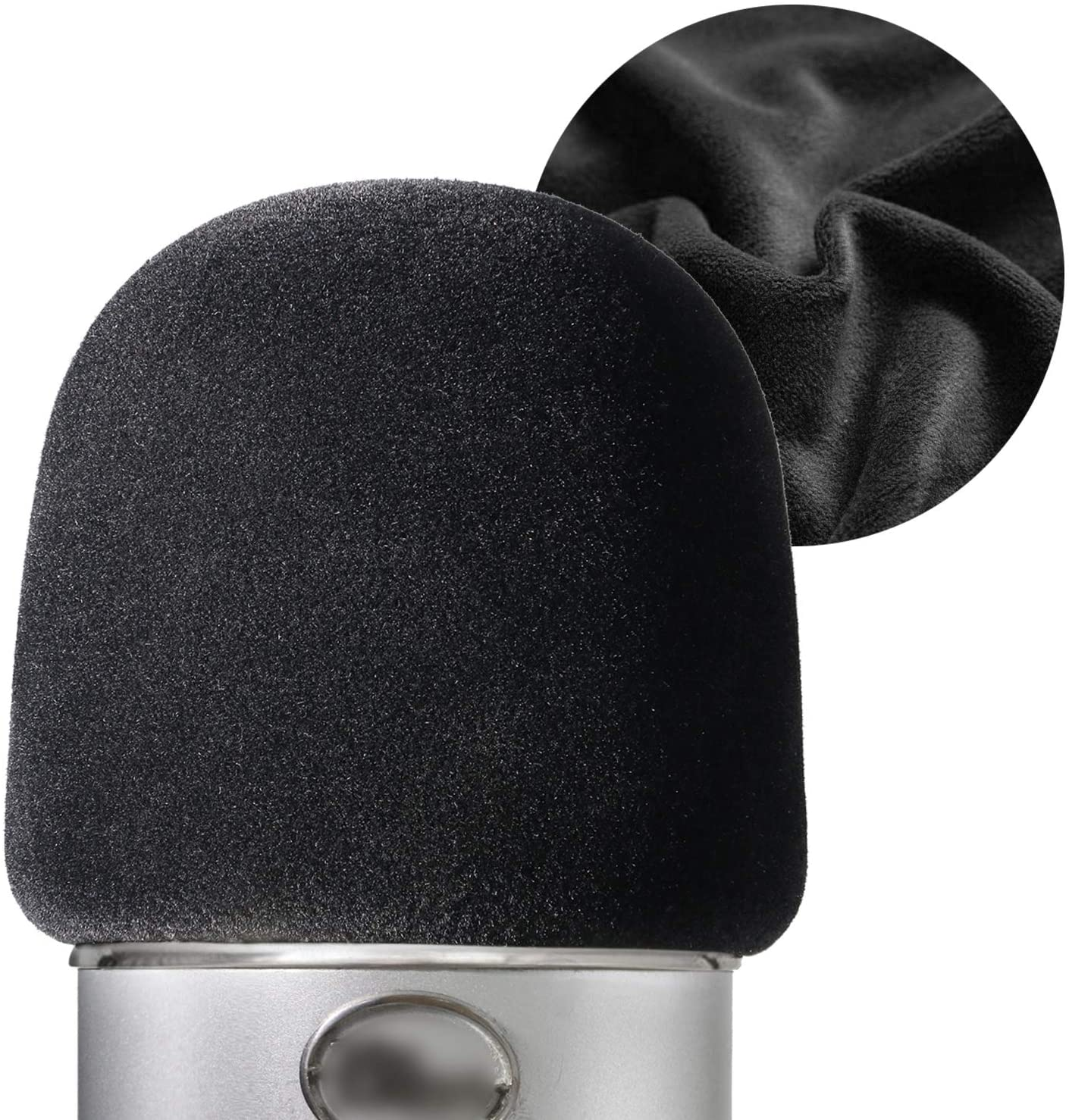 Flocked Foam Windscreen for Blue Yeti - Mic Cover Pop Filter with Flocking Surface for Blue Yeti, Yeti Pro Condenser Microphones by YOUSHARES