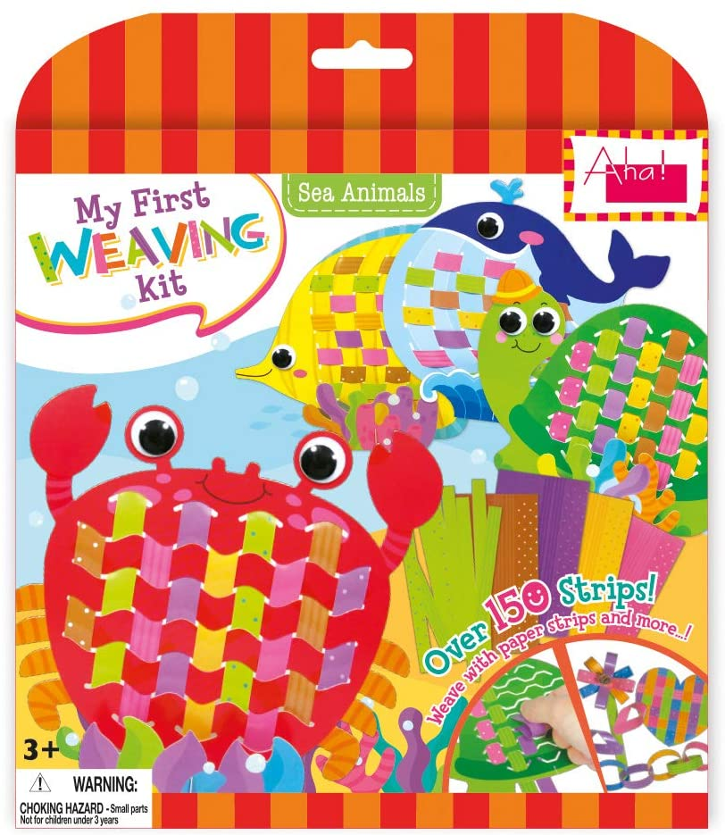 Aha! Designs My First Weaving Kit Paper Craft Educational Toy for 3+ Kids (Sea Animals)