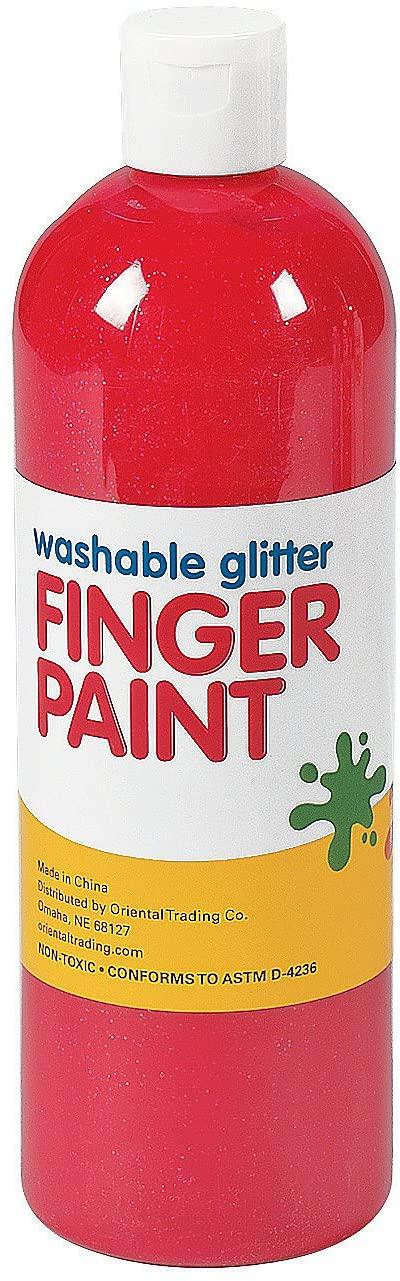 Washable Red Glitter Finger Paint - 16 oz.