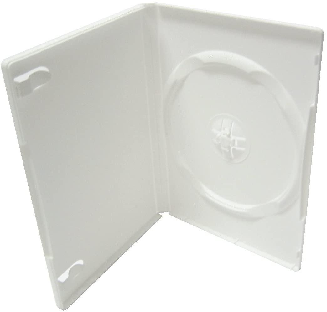 STANDARD SINGLE DVD CASE, WHITE, PSD20 100 PCS/CS