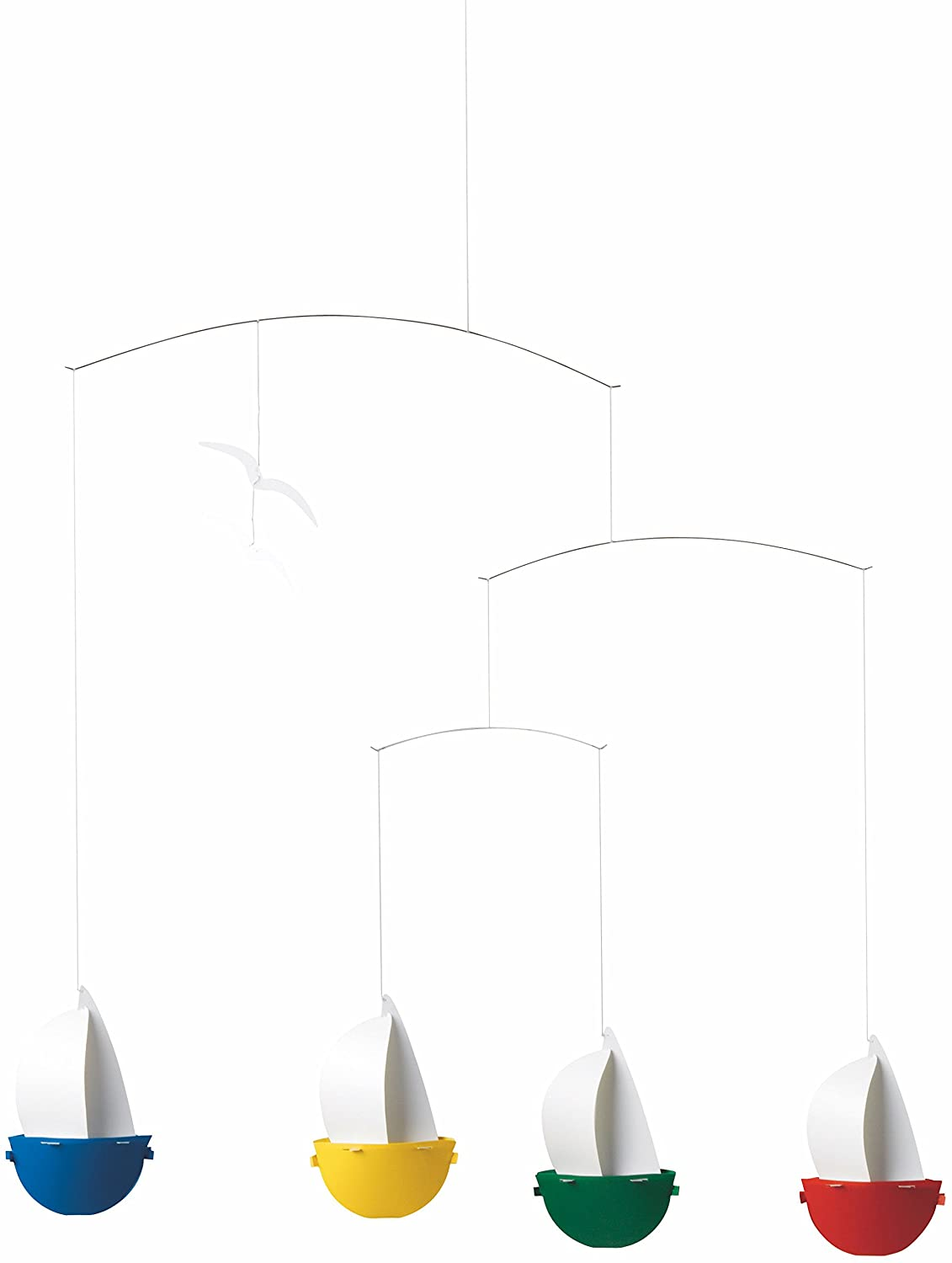Sailfun Hanging Nursery Mobile - 24 Inches Plastic - Handmade in Denmark by Flensted