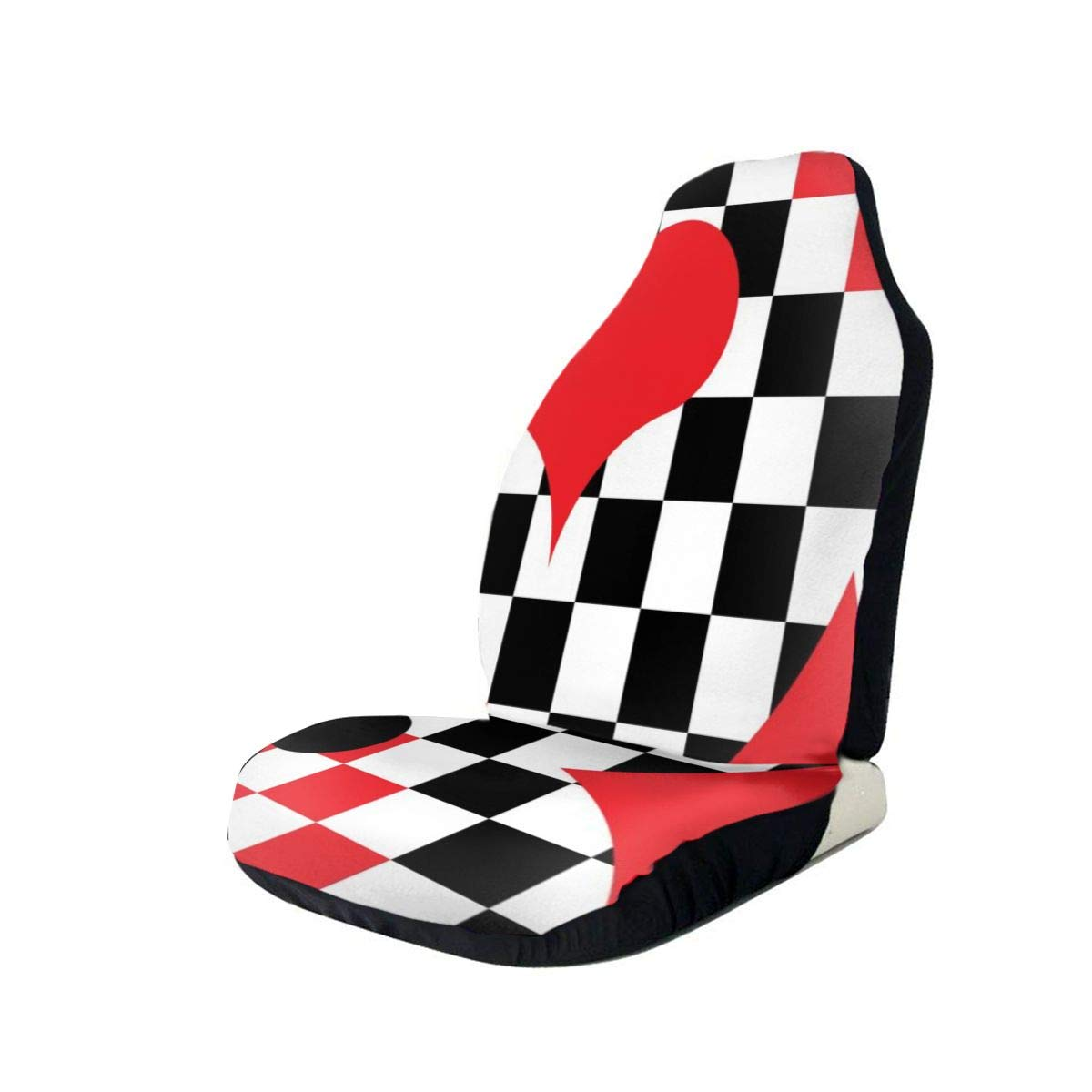 Car Seat Cover, Universal Car Seat Covers, Unique Chess and Cards Seat Covers Universal for Front Seat, Automobile Seats Protector Fits Most Car Trucks SUV