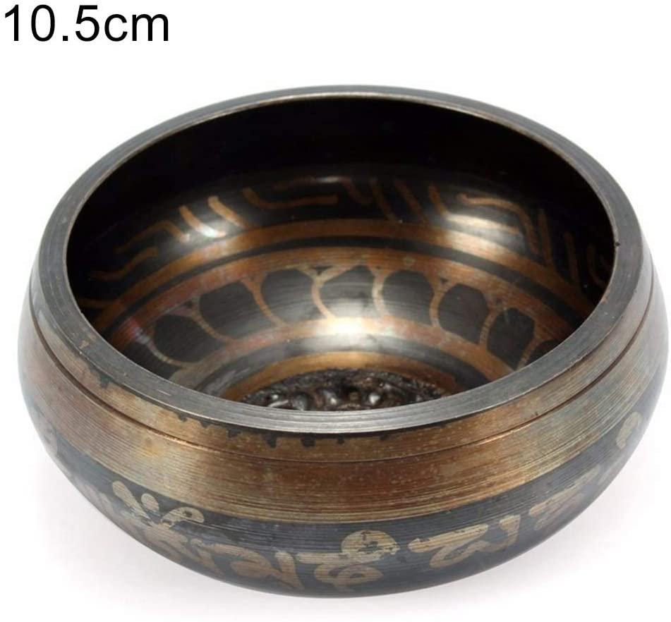 UTUT Singing Bowl Yoga Meditation Therapy Tibetan Relaxation Heal Buddha Singing Bowl Wood Stick 10.5cm