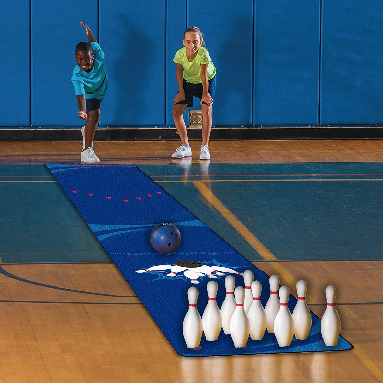 Flagship Carpets CE396-12W 30' Strikes N' Spares Bowling Skills Carpets, Multi