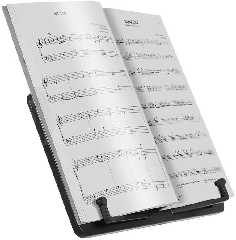 Mini Desktop Music Sheet Tripod Stand Aluminum Alloy Music Stand Holder Height Adjustable for Musical Instrument