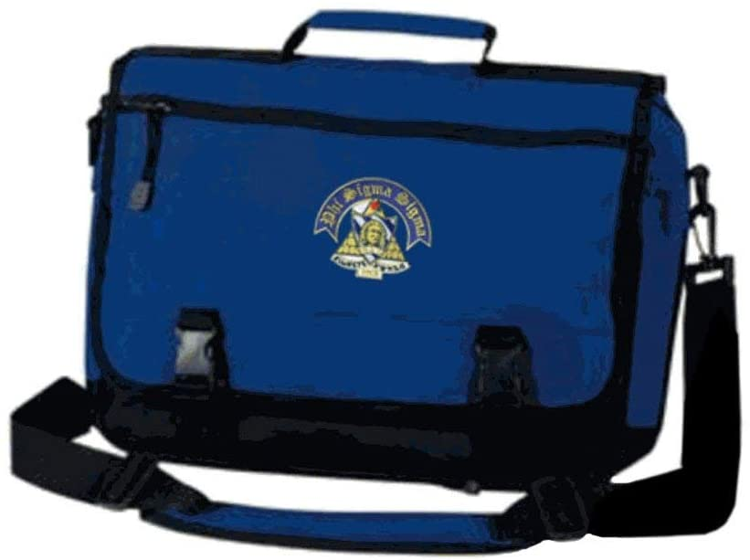 Phi Sigma Sigma Emblem Briefcase Blue