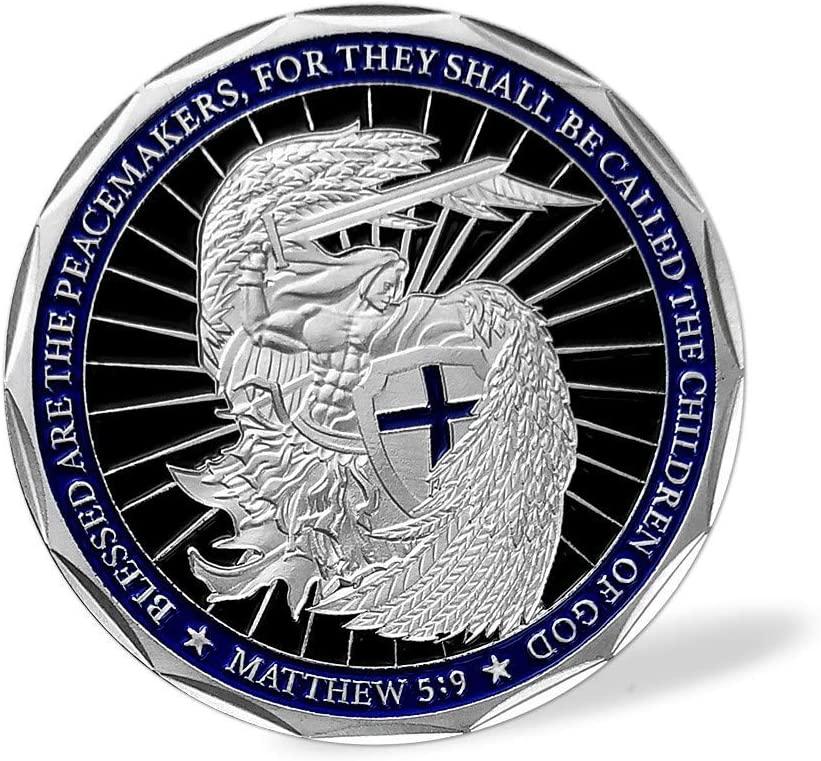 Saint Michael Law Enforcement Challenge Coin Prayer God Bless The Police