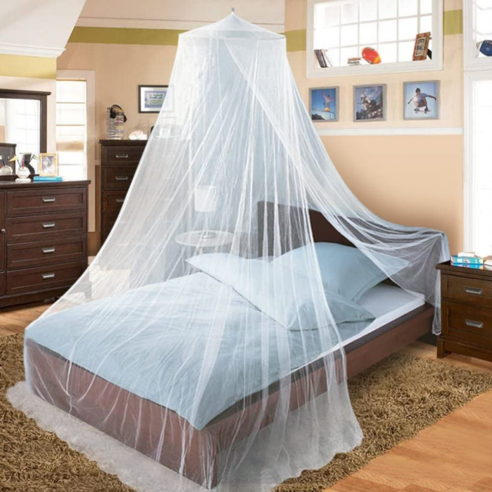Twinkle Star Bed Canopy for Single to King Size Beds (White)