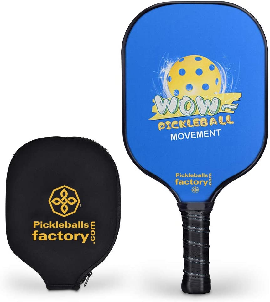 Pickleball Paddles, Pickleball Paddle, Pickleball, Blue Wow Racket Cover USAPA Approved Outdoor Pickle Ball and Paddle Ball Beach Game for Women/Ladies/Men/Dad
