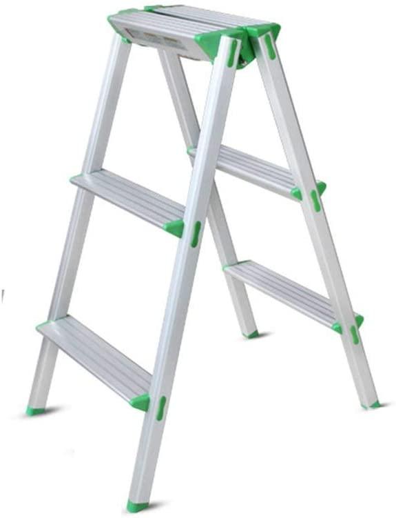 YQS Stools Stool Step Stool Step Stool, Ladder Aluminum Folding Ladder Footstool Step Stool