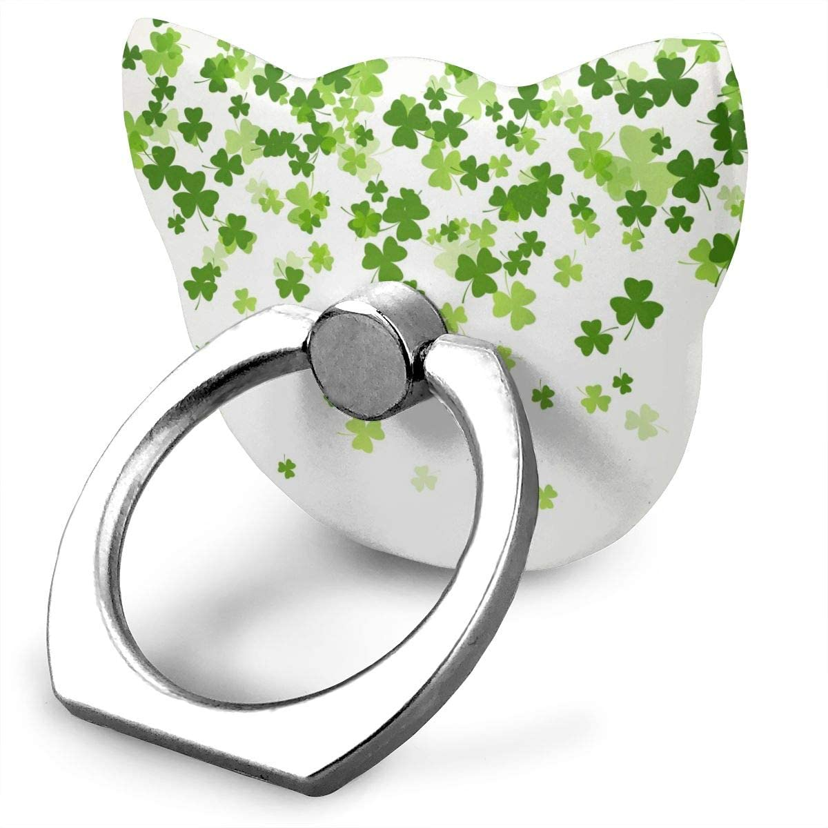Universal Phone Ring Holder St. Patrick's Day Adjustable 360°Rotation Cat Shape Finger Grip Loop Cell Phone Stand for Phone X/6/6s/7/8/8/10/11 Plus Android Smartphone
