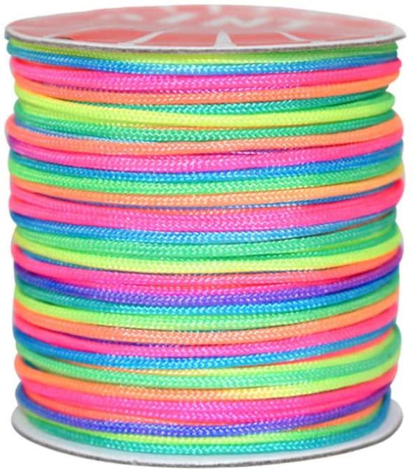 minansostey Neon Color String Rope Woven Friendship Bracelets Handmade DIY Jewelry Accessory