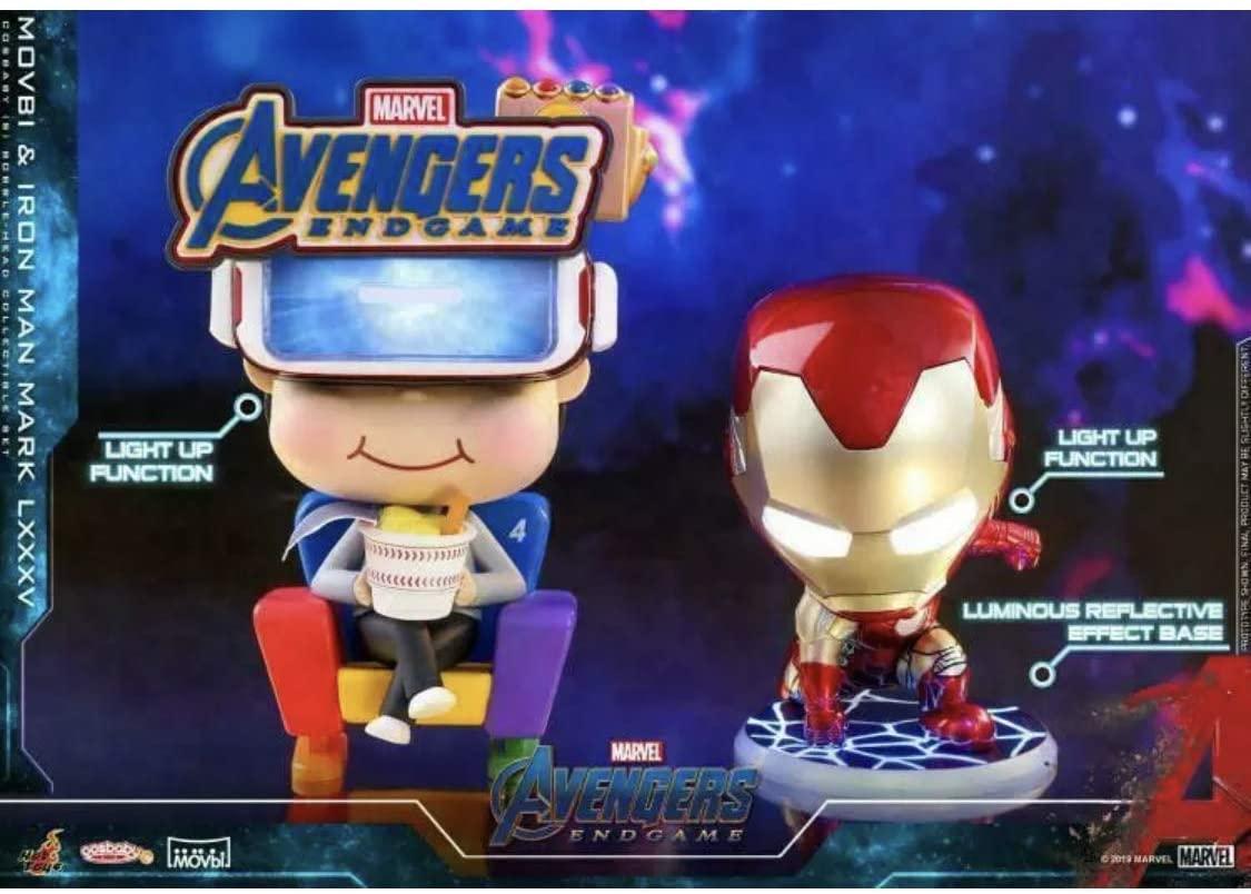 Hot Toys COSB553 Movbi & Iron Man Mark LXXXV Cosbaby HT Bobble-Head Toy