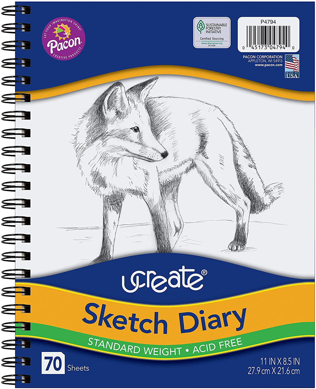 Pacon 4794 UCreate Sketch Diary, 8.5